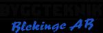 Byggteknik Blekinge AB – Snickare Byggfirma Byggföretag Köksrenovering Badrumsrenovering Ombyggnad Tillbyggnad Uterum Nybyggnation i Ronneby, Blekinge, Karlskrona, Karlshamn, Kallinge Logotyp